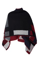 Burberry Color Block Poncho Navy