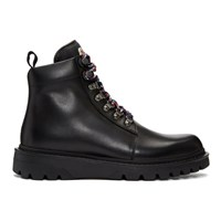 Moncler Black Isaac Lace Up Boots
