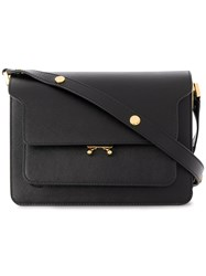 Marni Trunk Shoulder Bag Leather Black