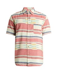 Faherty Coast Patch Pocket Cotton Shirt Pink Multi