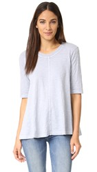 Wilt Elbow Sleeve Trapeze Tee Dusty Blue