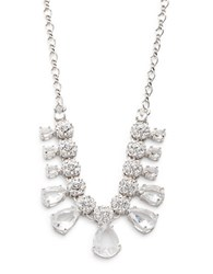 Kate Spade Clink Of Ice Small Crystal Necklace Silver