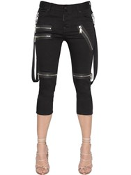 Dsquared Cool Girl Zip Detail Cropped Denim Jeans