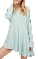 Free People Women's Clear Skies Cold Shoulder Tunic Mint