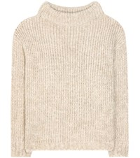 Tom Ford Mohair And Wool Blend Sweater Beige