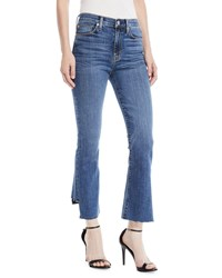 Hudson Holly High Rise Cropped Kick Flare Jeans Medium Blue