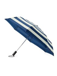 Kate Spade Off We Go Jubilee Striped Travel Umbrella Navy