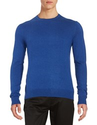 Black Brown Long Sleeve Crewneck Sweater Medium Cobalt