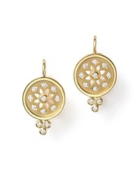 Temple St. Clair 18K Gold Mandala Cutout Earrings With Diamonds