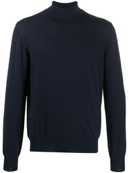 Barba Knitted Rollneck Blue