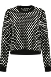 Alexander Wang T By Jacquard Knit Sweater Gray