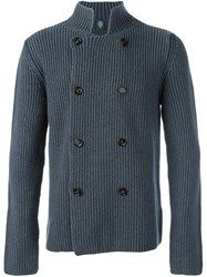 Eleventy Double Breasted Cardigan Grey