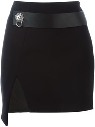 Versus Side Slit Mini Skirt Black