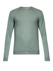 Editions M.R Crew Neck Merino Wool Sweater Green