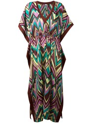 M Missoni Zigzag Print Shift Dress Brown