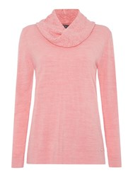 Tigi Soft Feel Cowl Neck Jumper Blush Marl