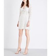 French Connection Emmie Embellished Lace Dress Daisy White
