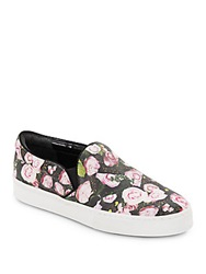 Schutz Rosa Floral Print Slip On Sneakers Flower Multi