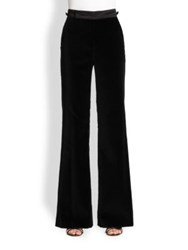 Marc Jacobs Velvet Wide Leg Pants Black