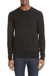 Armani Jeans Men's Ribbed Stripe Sweater