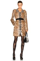 Maison Martin Margiela Maison Margiela Printed Lapin Rabbit Fur Jacket In Animal Print Brown