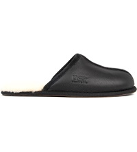 Ugg Scuff Leather Slippers Black