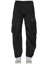 Dsquared 22Cm Combat Cotton Twill Cargo Pants Black