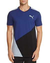 Puma Color Block Tee Twilight Blue