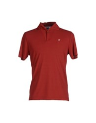 C.P. Company Topwear Polo Shirts Men Brick Red