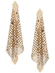 Paco Rabanne Chainmail Mesh Earrings Gold