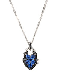 Stephen Webster Black Diamond And Sapphire Pendant Necklace