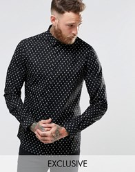 Noose And Monkey Shirt With All Over Skull Print Black