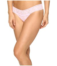 Hanky Panky Signature Lace Low Rise Thong Blossom Women's Underwear Pink