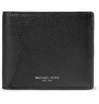 Michael Kors Full Grain Leather Billfold Wallet Black
