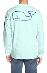 Vineyard Vines Men's Pocket Long Sleeve T Shirt Crystal Blue