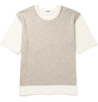 Aloye G.F.G.S. Colour Block Knitted Cotton And Yak Blend T Shirt Gray