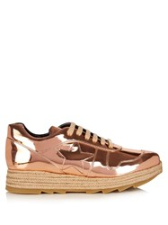 Stella Mccartney Macy Faux Leather Trainers Rose Gold