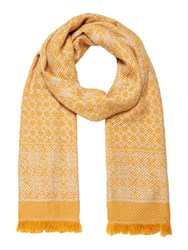 Dickins And Jones Donna Mixed Weave Blanket Scarf Yellow