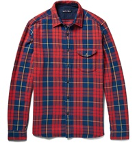 Alex Mill Checked Cotton Twill Shirt Red
