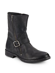 Frye Dean Engineer Leather Moto Boots Black