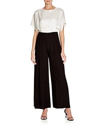 Abs By Allen Schwartz Short Sleeve Blouson Jumpsuit