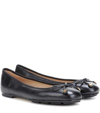Tory Burch Laila Driver Leather Ballerinas Black