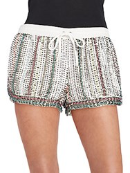 Parker Nash Beaded Shorts White