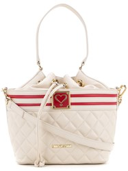 Love Moschino Quilted Drawstring Shoulder Bag Women Polyurethane One Size White