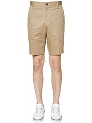 Thom Browne Light Cotton Twill Chino Shorts Camel