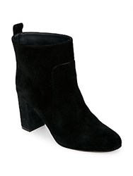 Golden Goose Round Toe Leather Booties Black