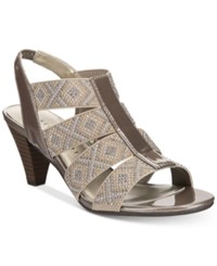 Karen Scott Nicolle Slingback Sandals Created For Macy's Women's Shoes Pewter