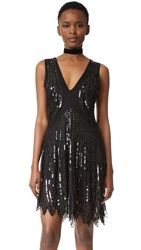 Loyd Ford Sequin Dress Black