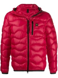 Blauer Hooded Down Jacket Red