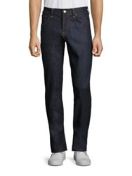 Nudie Jeans Contrast Topstitch Straight Leg Blue